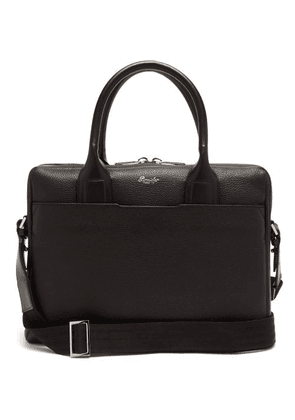 Pineider - Grained-leather Briefcase - Mens - Black