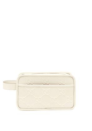 Gucci - GG-embossed Leather Washbag - Mens - White