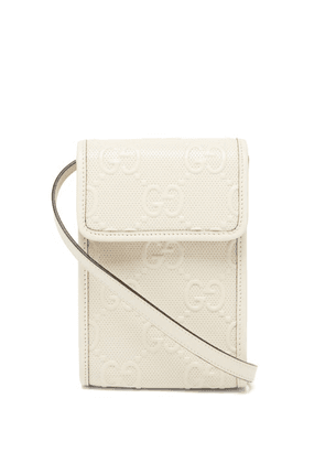Gucci - GG-embossed Leather Cross-body Bag - Mens - White