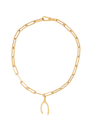 The Past Follies 24kt gold-plated necklace