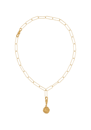 The Unfolding Reverie Chapter II 24kt gold-plated necklace