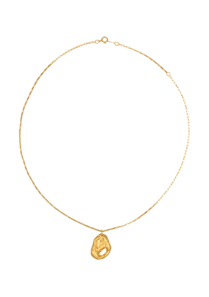 The Clouds In Your Mind 24kt gold-plated necklace