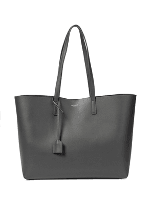 Shopping E/W leather tote