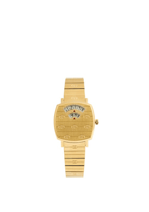 Gucci - Grip Two-window Gold Pvd Watch - Womens - Gold