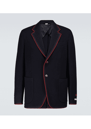 Wool and cotton jersey blazer