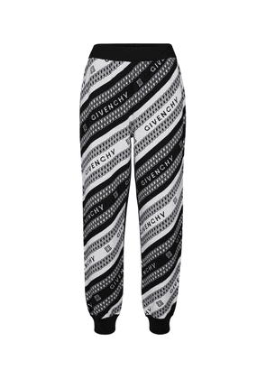 Wool jacquard sweatpants