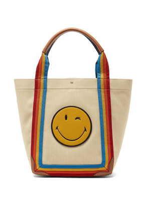 Anya Hindmarch - Pont Small Stripe-trimmed Canvas Tote Bag - Womens - Multi