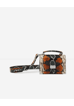 The Kooples - Mini orange and green python Emily bag - WOMEN