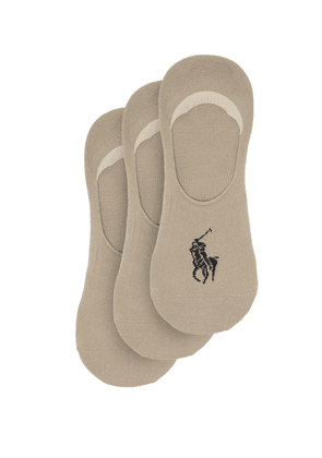 Polo Ralph Lauren - Pack Of Three Cotton-blend Liner Socks - Mens - Beige