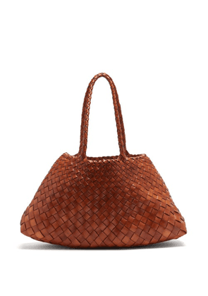 Dragon Diffusion - Santa Croce Large Woven-leather Basket Bag - Womens - Tan