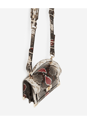 The Kooples - Mini grey and red python Emily bag - WOMEN