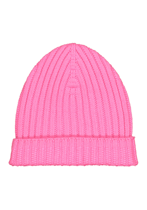 Ribbed-knit cashmere beanie