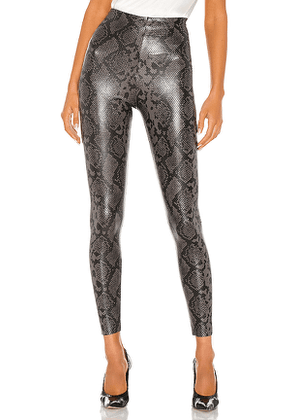 Commando Faux Leather Animal Legging in Grey. Size L, S, XS.