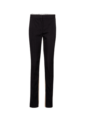 Exclusive to Mytheresa – High-rise wool and cotton slim pants