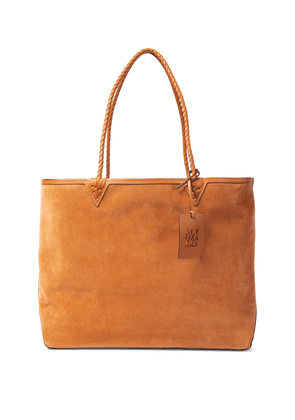 Espadrille Large suede and leather tote