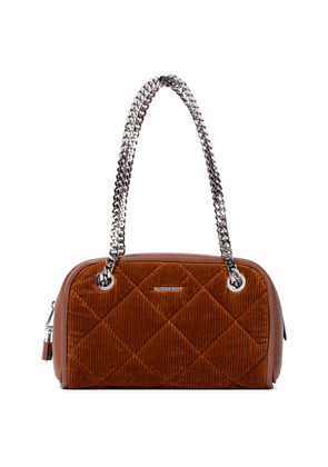 Exclusive to Mytheresa – Cube Small corduroy and leather shoulder bag