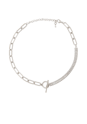 petit moments Demie Necklace in Metallic Silver.