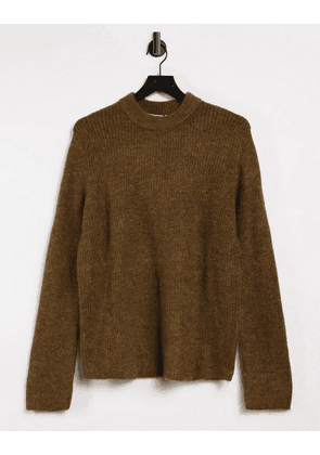 Weekday Mino sweater in Dusty Brown
