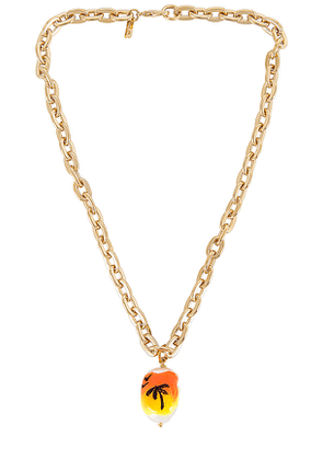 joolz by Martha Calvo Sunset Drive Necklace in Metallic Gold.