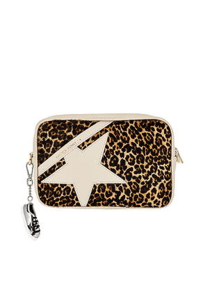 Golden Goose Pony Hair Star Bag in Brown.