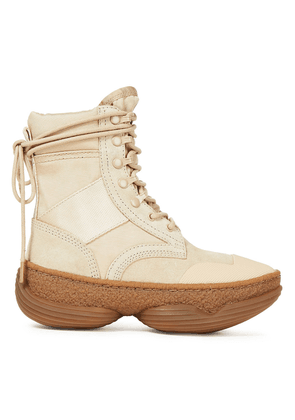 Alexander Wang Suede And Canvas Snow Boots Woman Sand Size 37