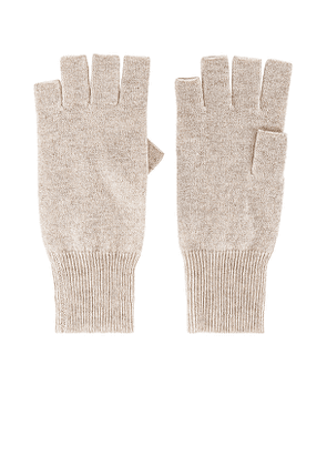 Autumn Cashmere Fingerless Gloves in Beige.