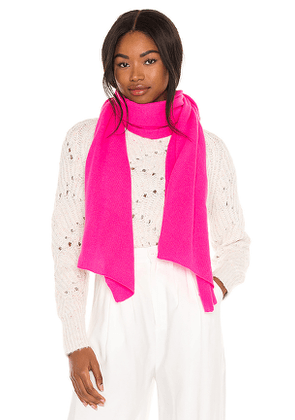 Autumn Cashmere Featherweight Wrap in Pink.