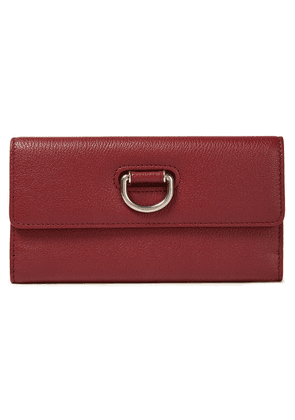 Burberry Pebbled-leather Wallet Woman Crimson Size --