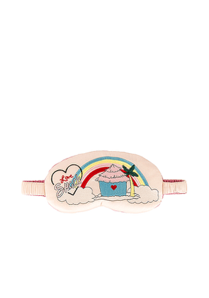 LoveShackFancy X Morgan Lane Love Shack Eyemask in Pink.