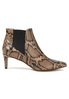 Atp Atelier Cynara Snake-effect Leather Ankle Boots Woman Animal print Size 37
