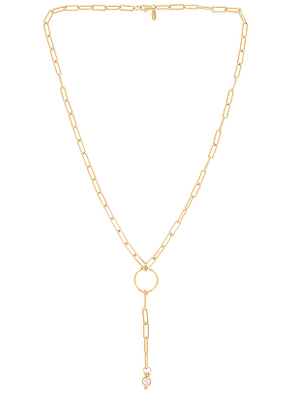 Vanessa Mooney The Altair Chain Rosary Necklace in Metallic Gold.