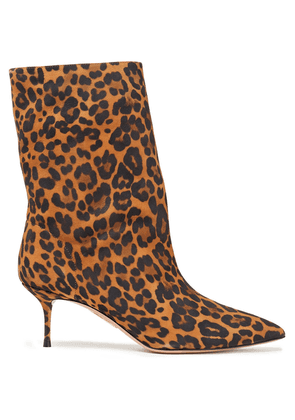 Aquazzura Very Boogie 60 Leopard-print Suede Ankle Boots Woman Animal print Size 36