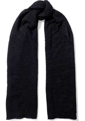 Autumn Cashmere Brushed Knitted Scarf Woman Black Size --