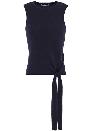 Autumn Cashmere Knotted Stretch-knit Top Woman Navy Size M