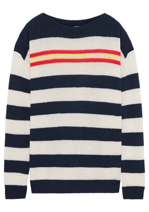 Autumn Cashmere Striped Ribbed Cashmere Sweater Woman Navy Size S