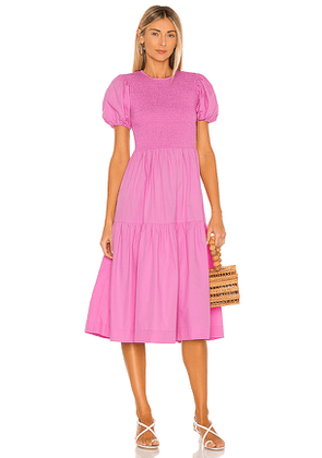 SWF Puff Sleeve Dress in Pink. Size M, S, XS.