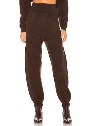 Divine Heritage x REVOLVE High Waisted Sweatpant in Chocolate. Size M, S, XS.