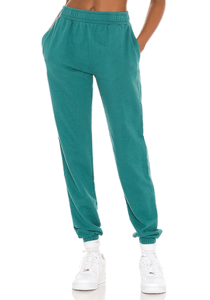 YEAR OF OURS Boyfriend Sweatpant in Teal. Size M, S, XS.