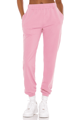 YEAR OF OURS Boyfriend Sweatpant in Pink. Size M, S, XS.