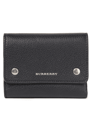 Burberry Pebbled-leather Wallet Woman Black Size --
