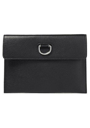 Burberry Textured-leather Travel Wallet Woman Black Size --