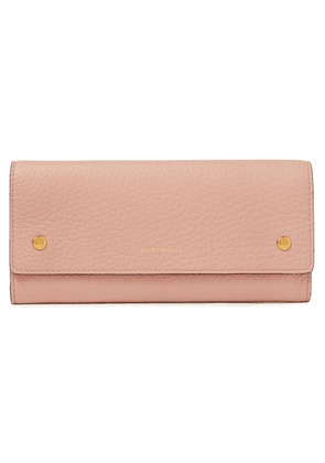 Burberry Pebbled-leather Wallet Woman Baby pink Size --
