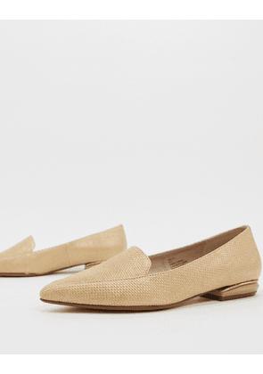 Dune hulaa pointed flat shoes in natural-Cream