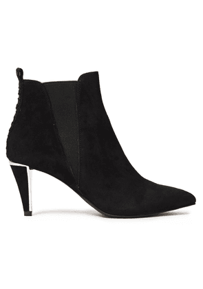 Dkny Suede Ankle Boots Woman Black Size 6.5