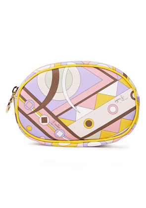 Emilio Pucci Printed Faux Textured-leather Cosmetics Case Woman White Size --
