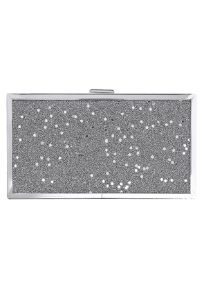 Halston Frame Sequin-embellished Glittered Acrylic Box Clutch Woman Silver Size --