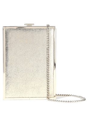 Halston Frame Minaudiere Metallic Cracked-leather Box Clutch Woman Gold Size --