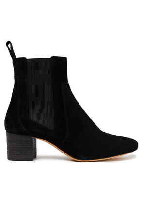 Iro Carly Suede Ankle Boots Woman Black Size 39