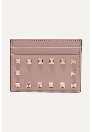Valentino - Valentino Garavani The Rockstud Leather Cardholder - Blush