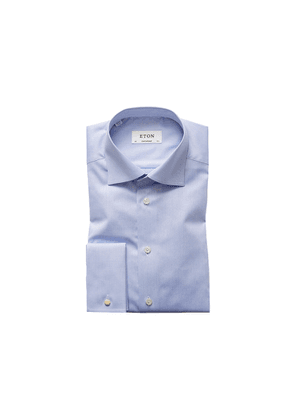 Eton Light Blue French Cuff Shirt - Contemporary Fit